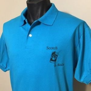 Vintage 80s Scotch & Soda Cocktail Polo Shirt XL